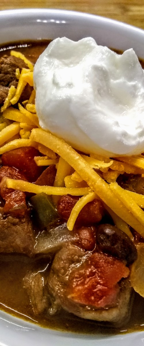 Slow-Cooked Stew Meat Chili