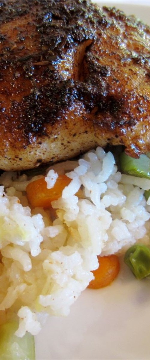 Blackened Catfish and Spicy Rice