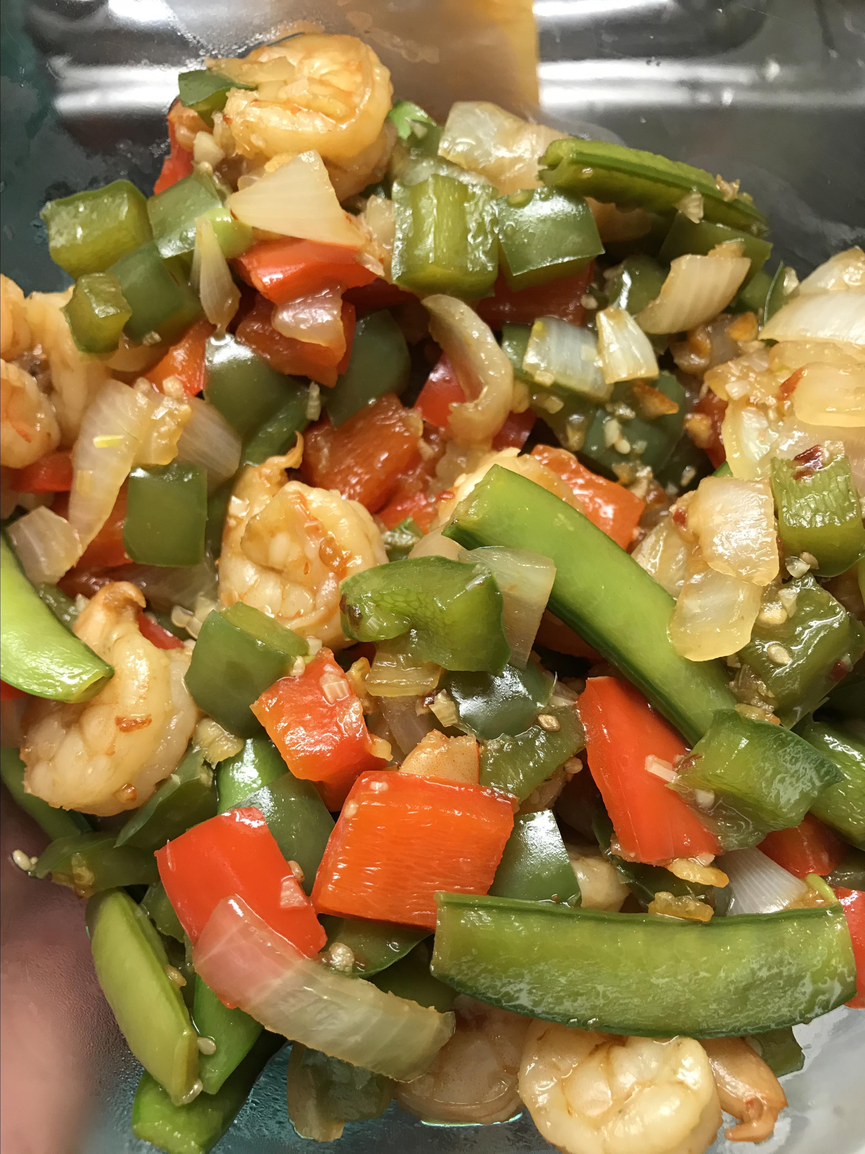 Asian Shrimp Rice Bowl