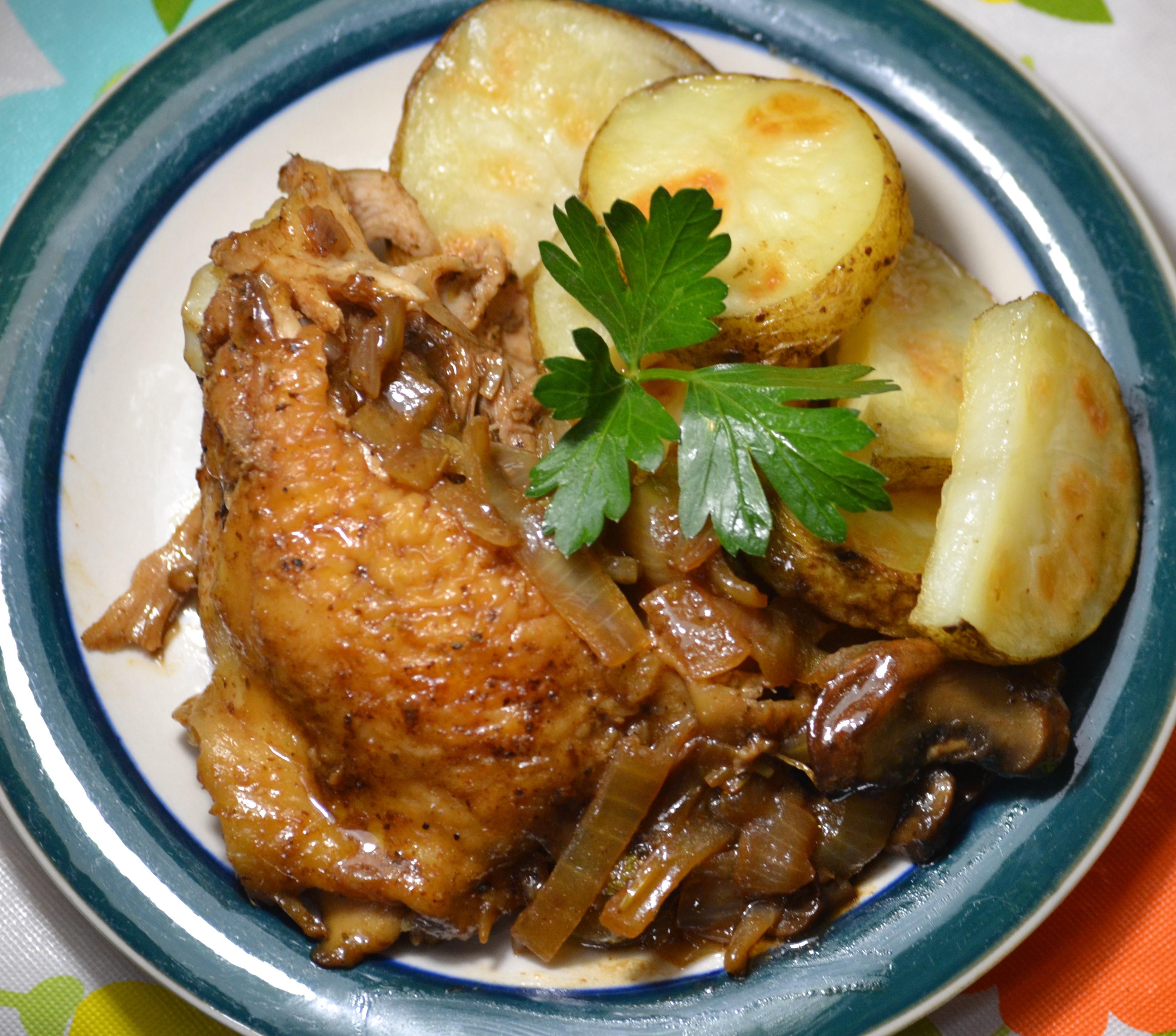 Balsamic Chicken Breasts with Porcini Mushrooms AllisonnL