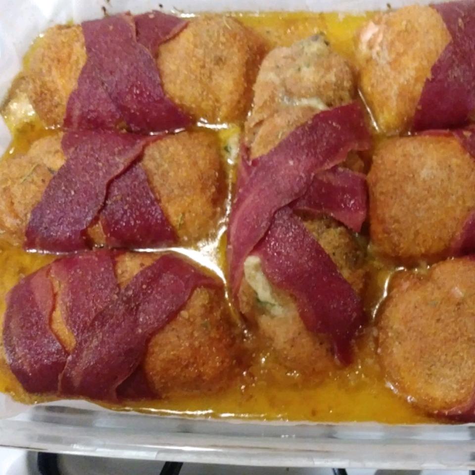 Cream Cheese, Garlic, and Chive Stuffed Chicken