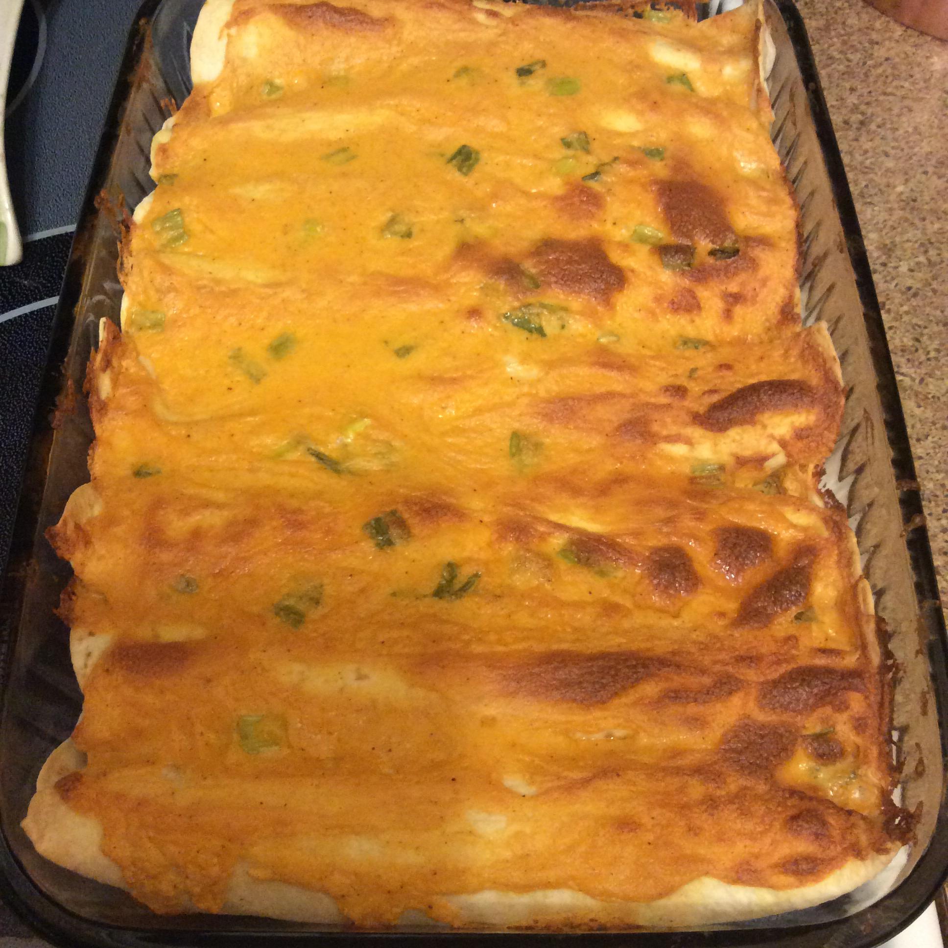 Mild Cheesy Chicken Enchiladas Lisa