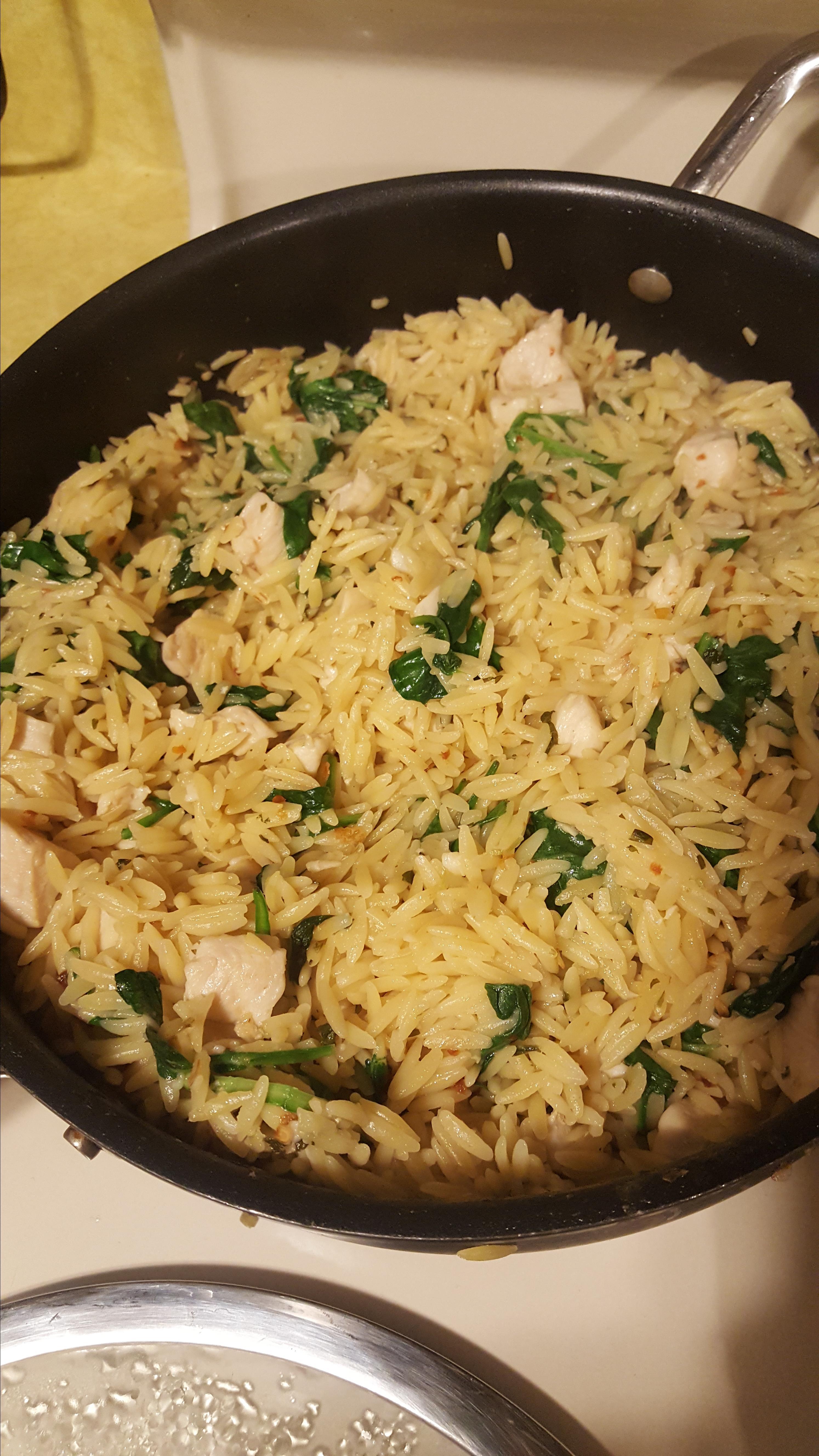 Garlic Chicken with Orzo Noodles shauna