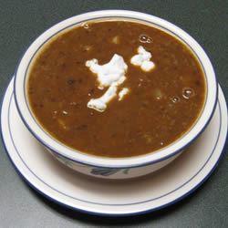 Pumpkin Black Bean Soup dishanddelish.com