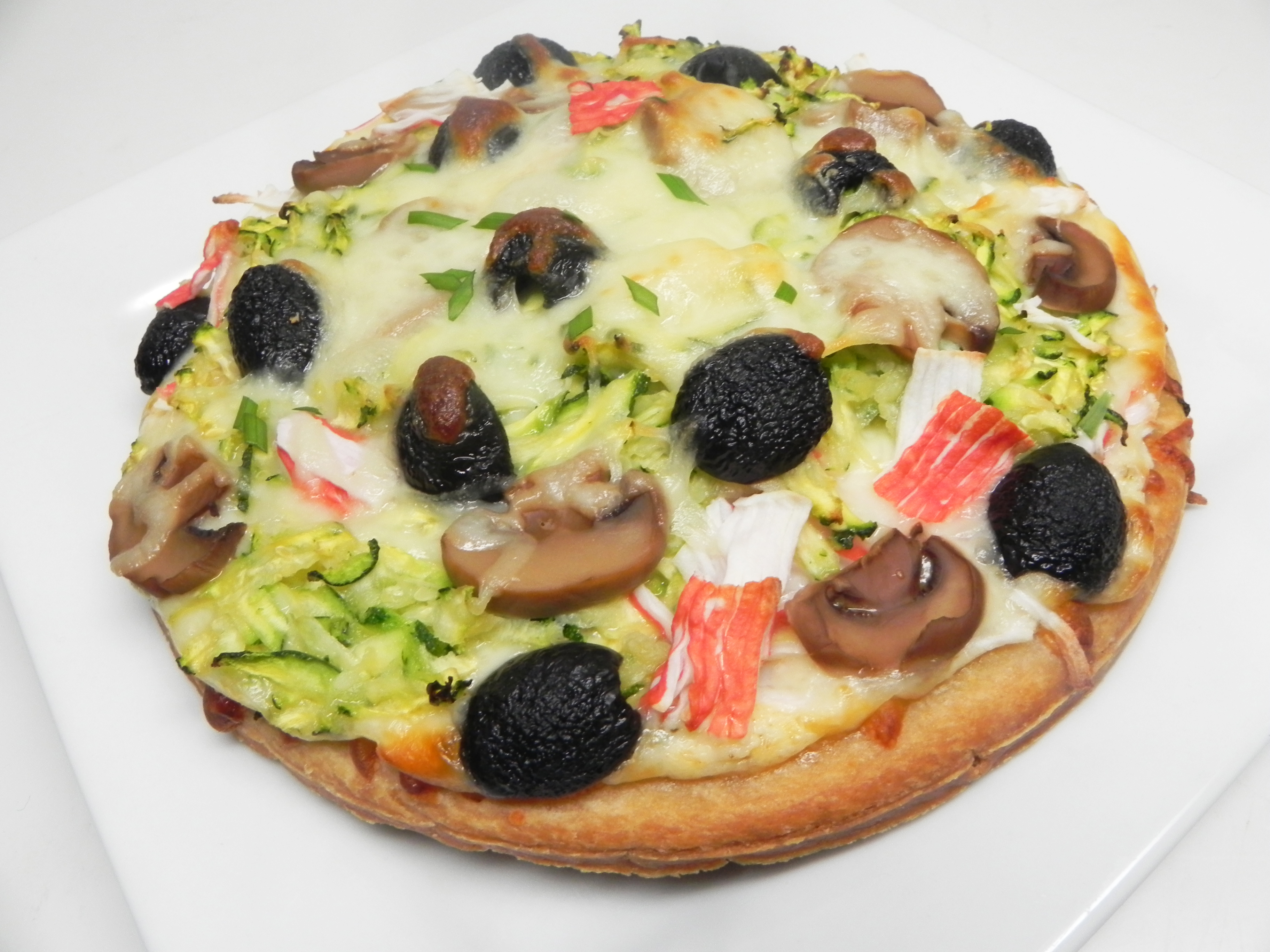 Savory Seafood Pizza Cindy