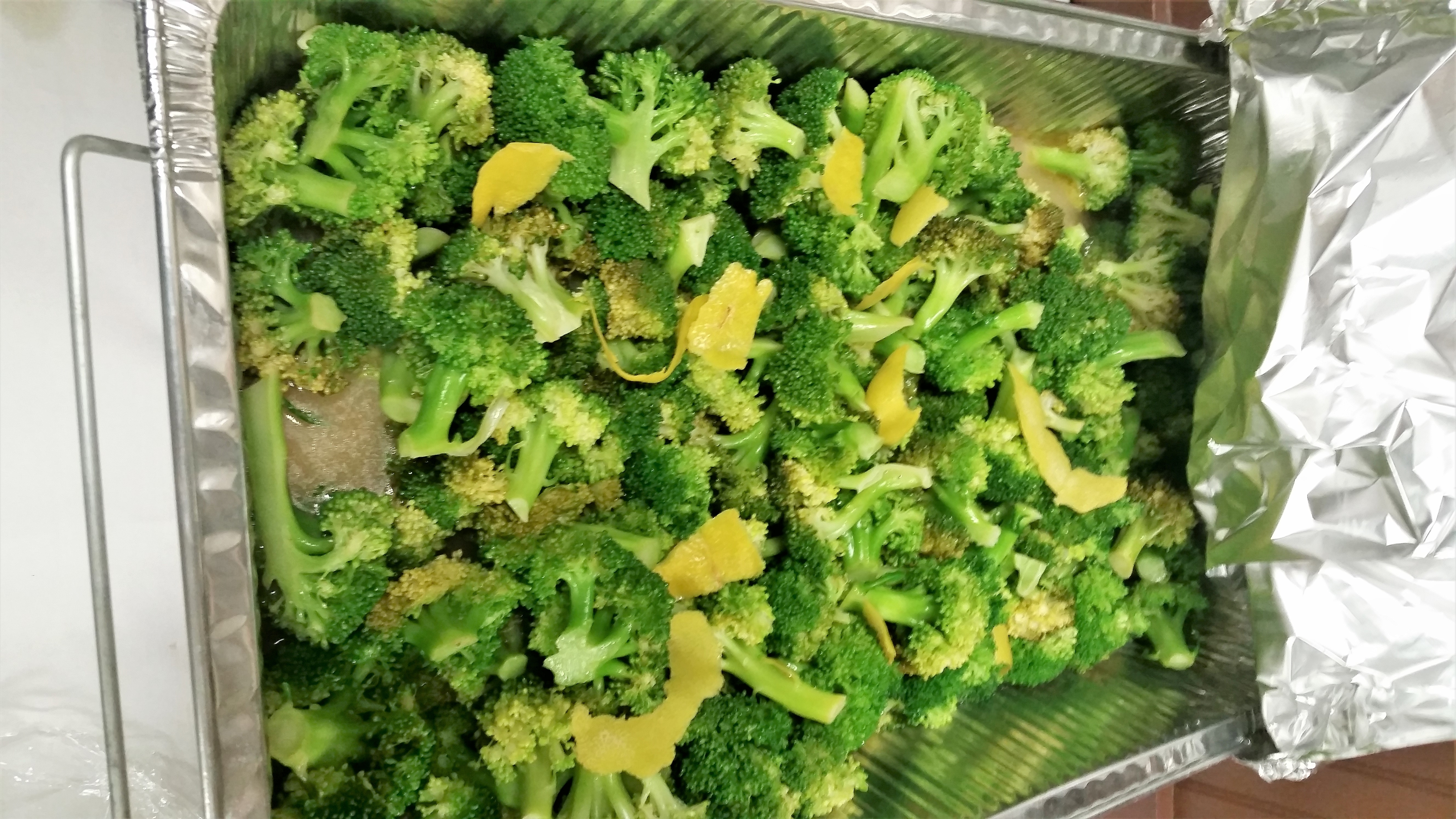 Broccoli with Lemon Butter Sauce James