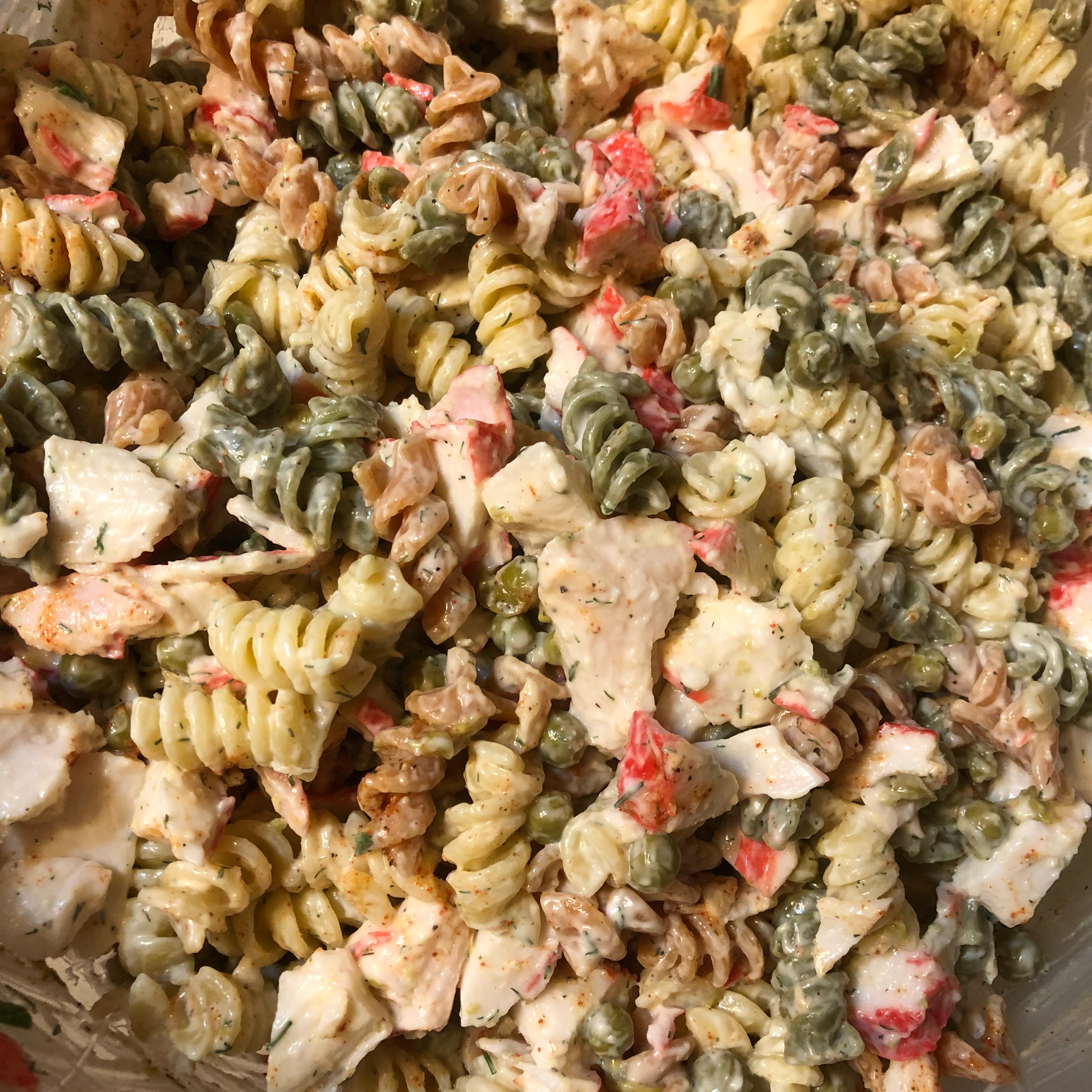 Easy Crab Pasta Salad_image