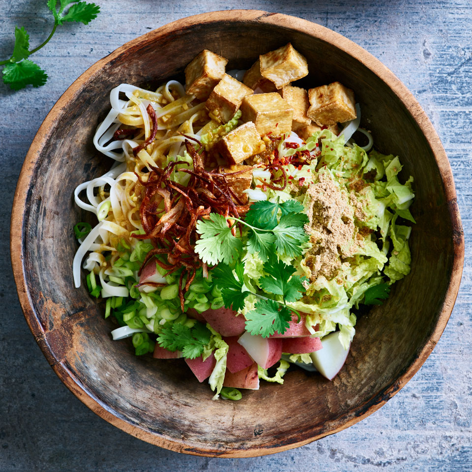 We've kept it simple with just rice noodles in this healthy vegan noodle salad recipe, but if you want to go wild, use wheat noodles, glass noodles or even your favorite spiralized veggie noodles.