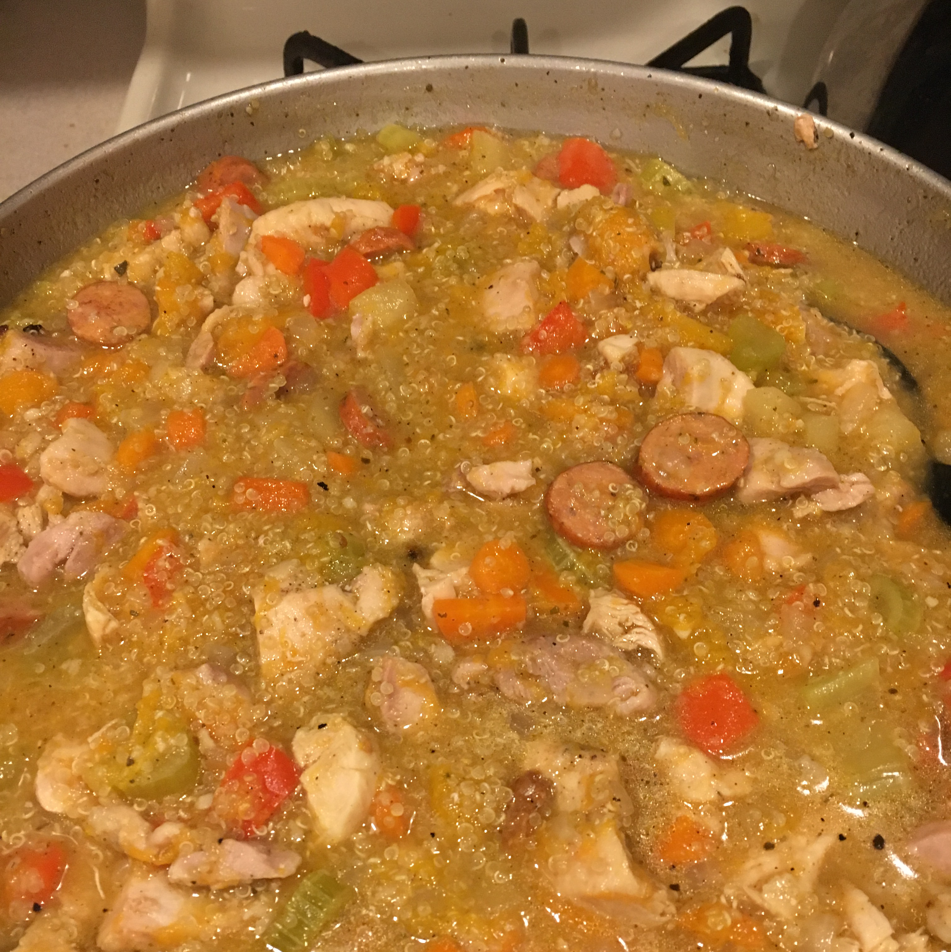 Stovetop Butternut Squash and Chicken Stew with Quinoa Kalypso