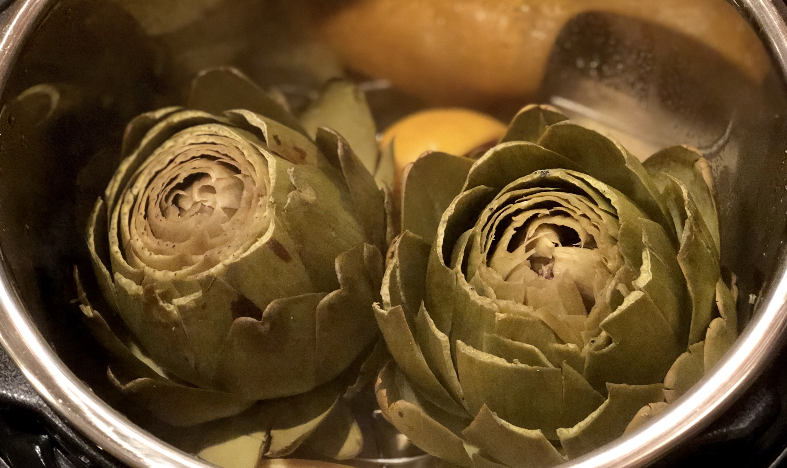 Instant Pot(R) Steamed Artichokes