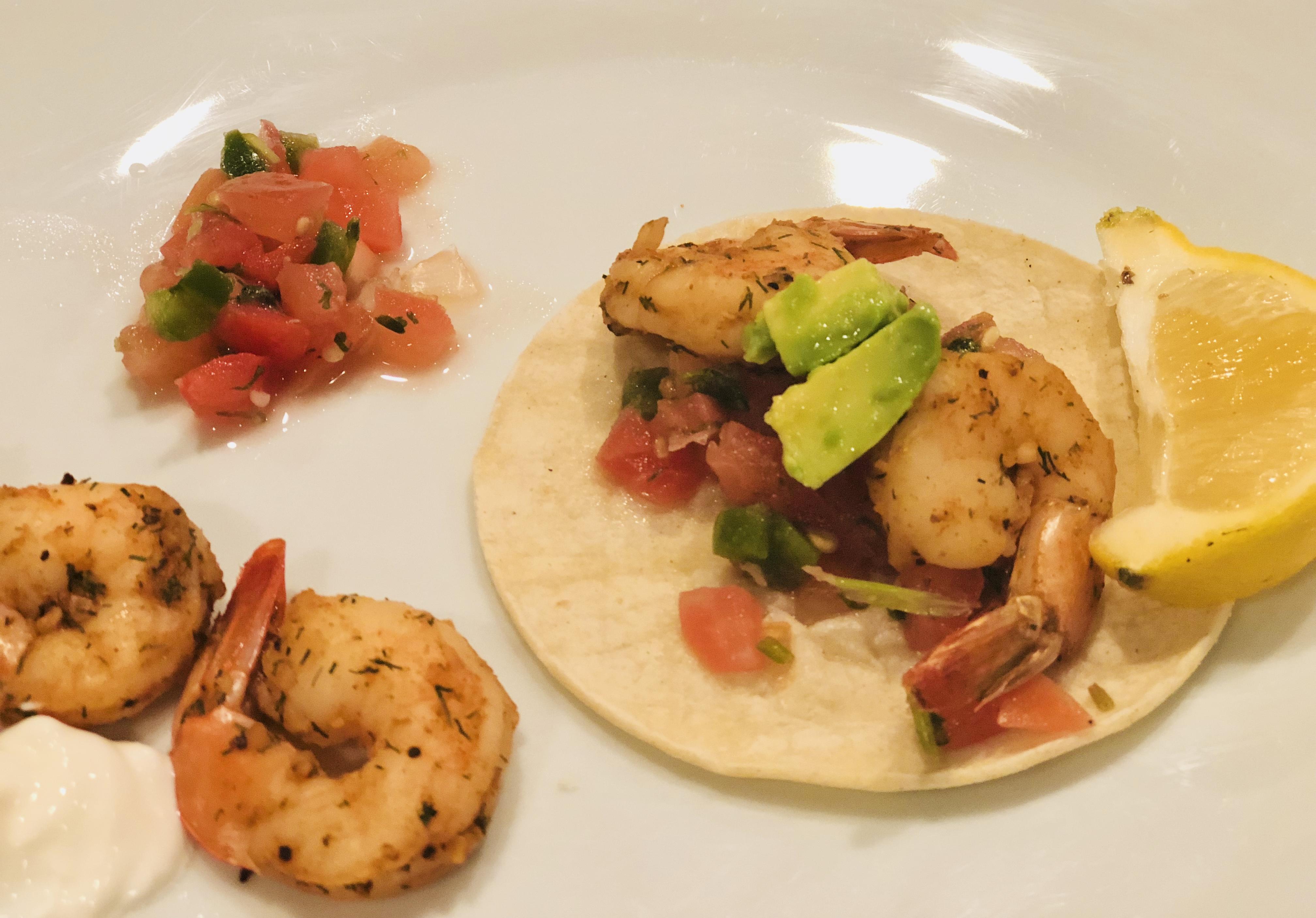 Spicy Shrimp Tacos with Avocado