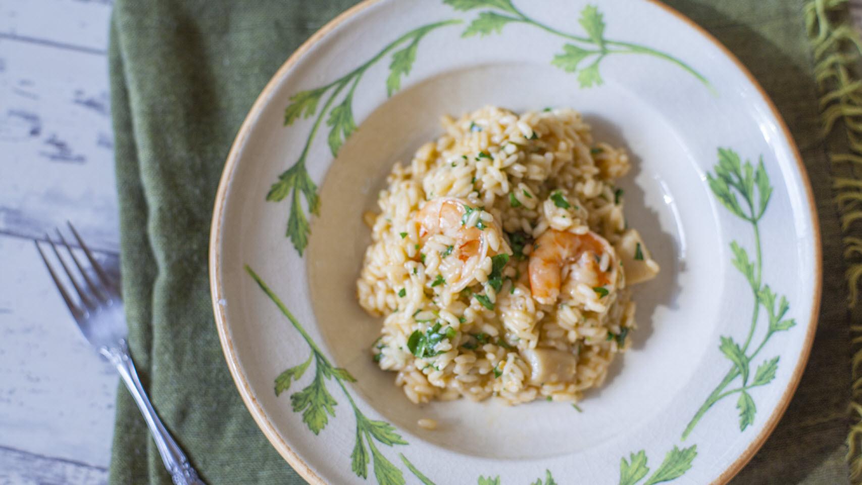 Italian Shrimp and Scallop Risotto