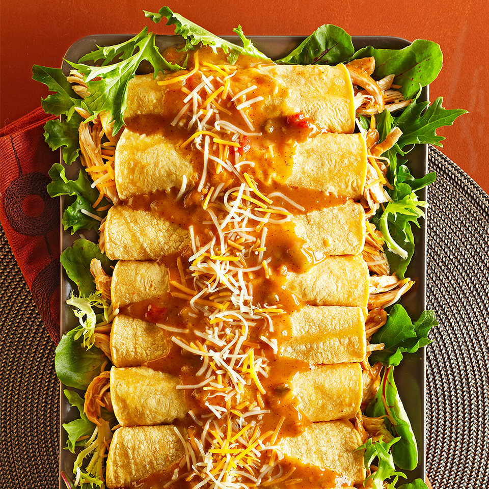 Easy Chicken Enchiladas Recipe Eatingwell