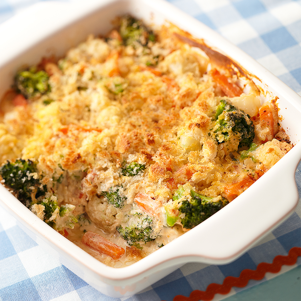 Cheesy Vegetable Bake Diabetic Living Magazine