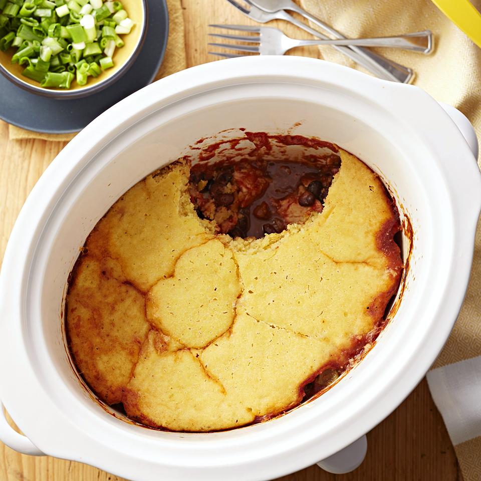Corn Bread-Topped Chicken Enchilada Casserole Diabetic Living Magazine