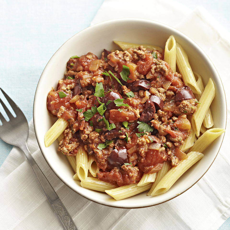Pasta Puttanesca with Beef Diabetic Living Magazine
