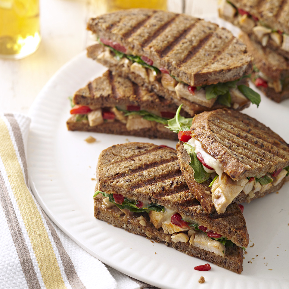 You don't need a panini press to enjoy these easy chicken salad panini sandwiches.
