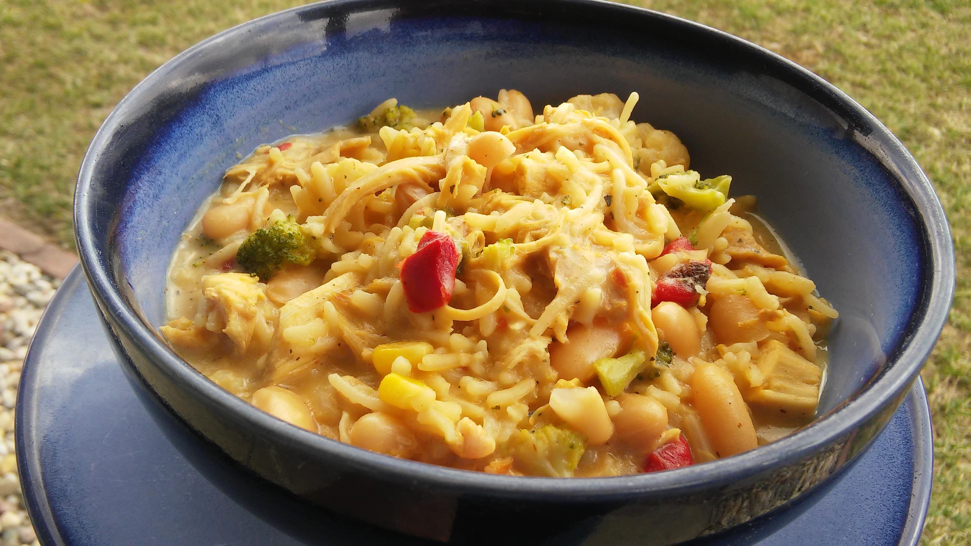 White Chicken Chili with Rice Peggi Weaver Tebben