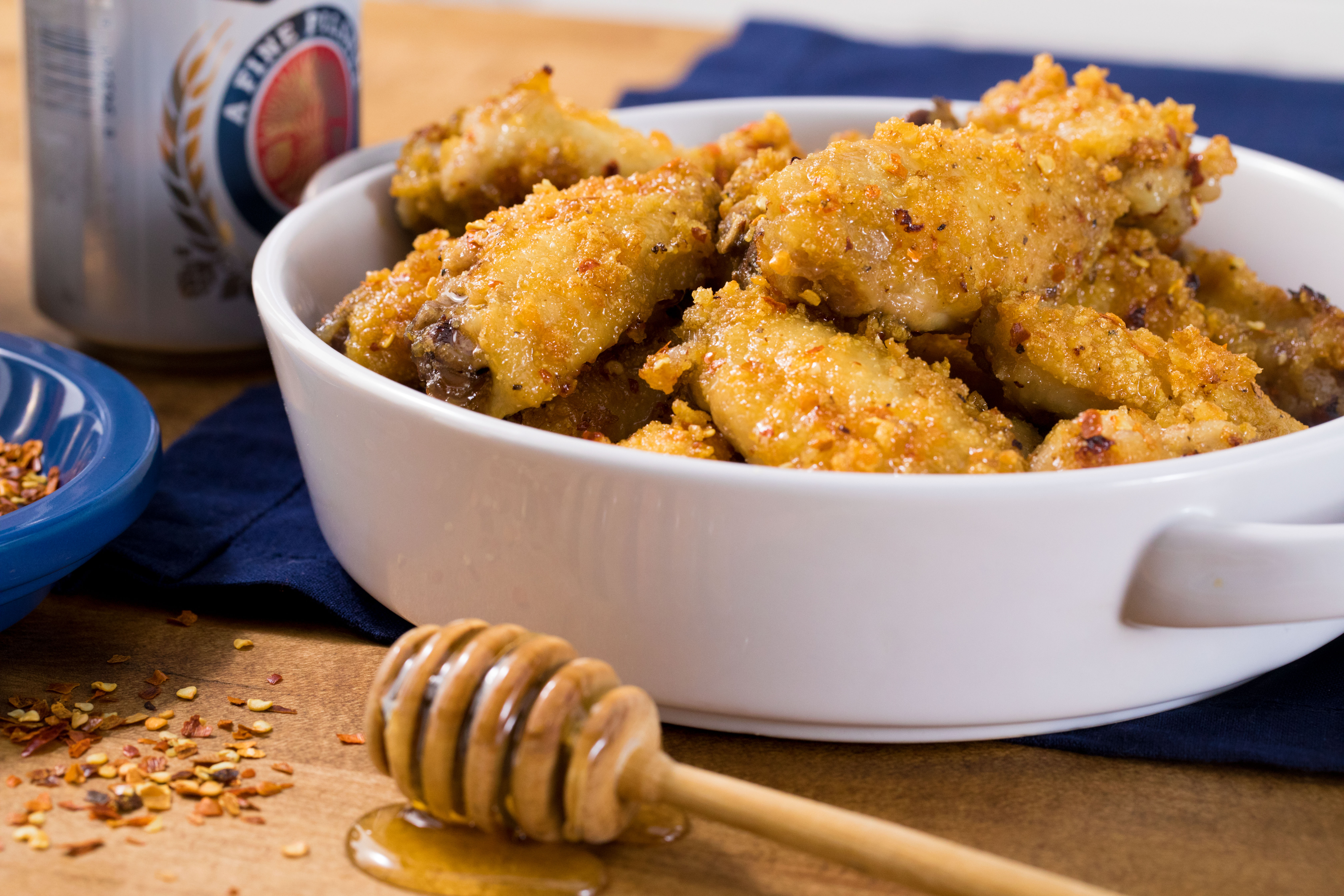 Super Crunch Oven Cooked Honey Dipped Wings Boomdog02