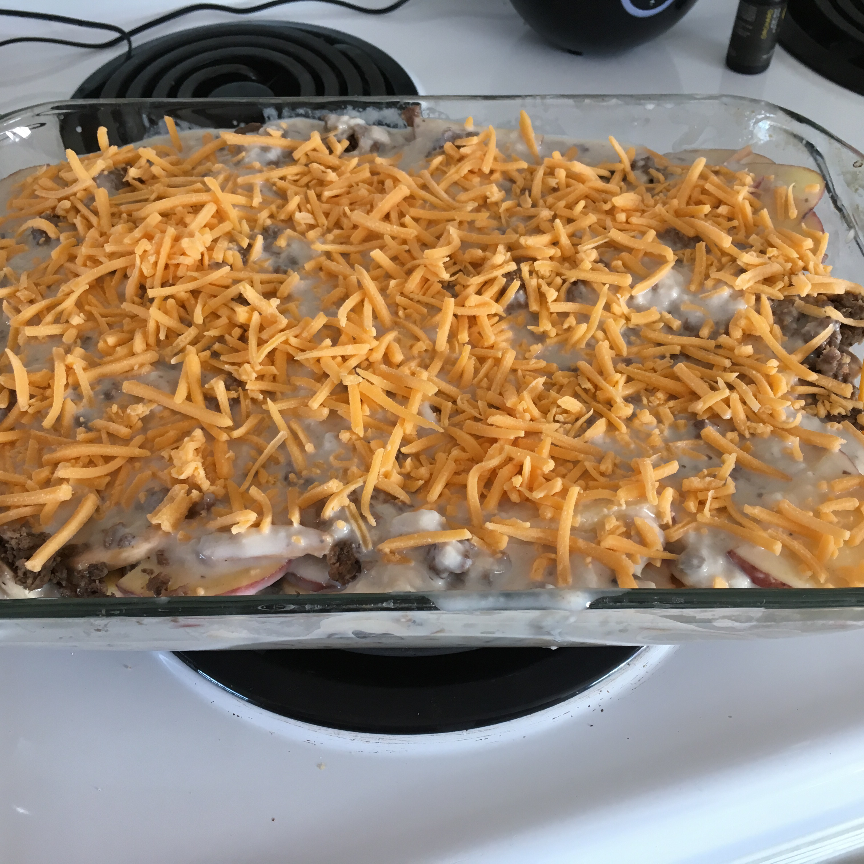 Creamy Hamburger Potato Casserole image