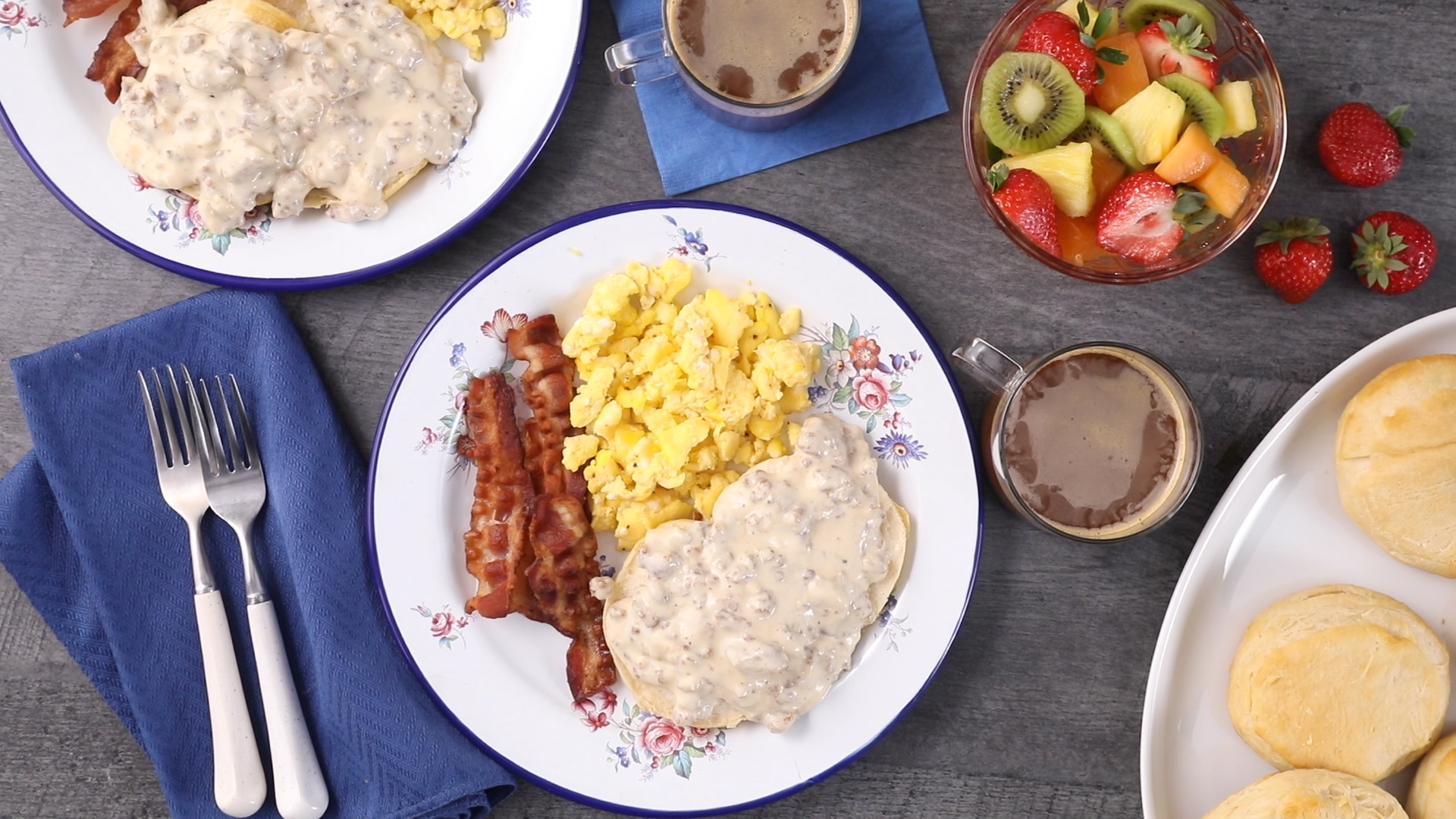 Sausage Biscuits and Gravy - Printer Friendly