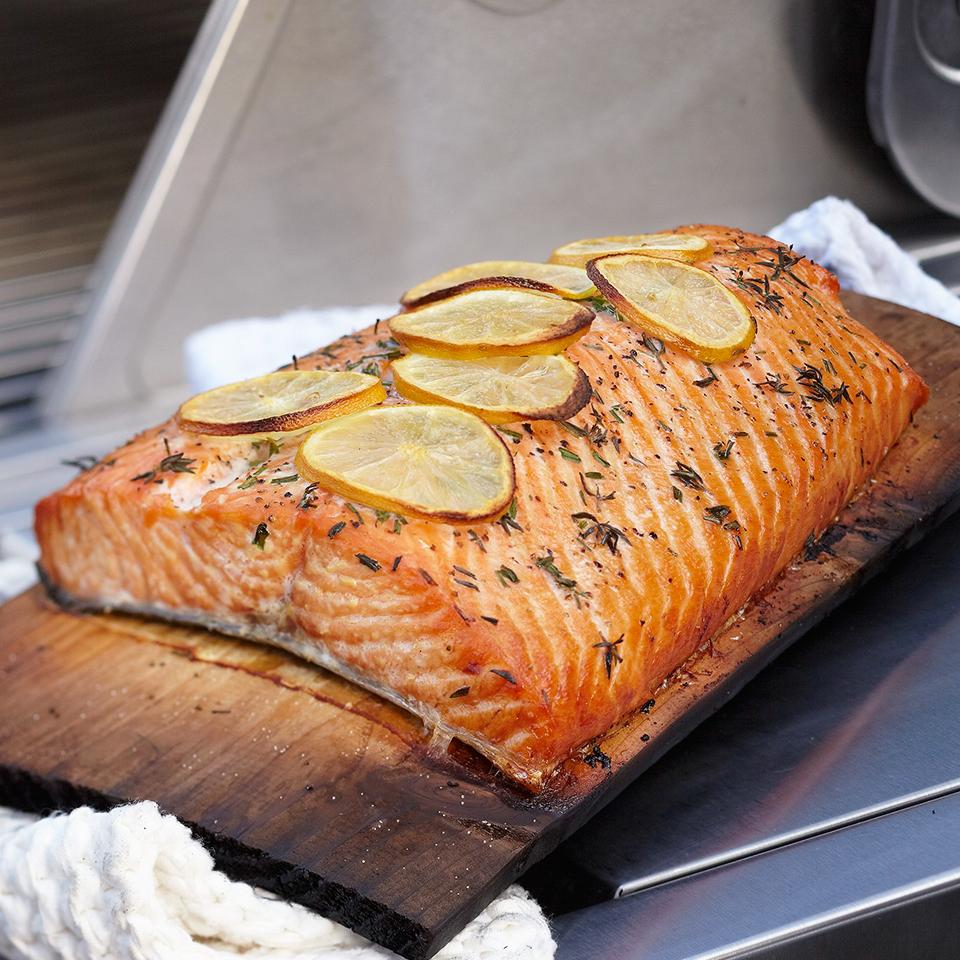 Cedar Plank Grilled Salmon Diabetic Living Magazine