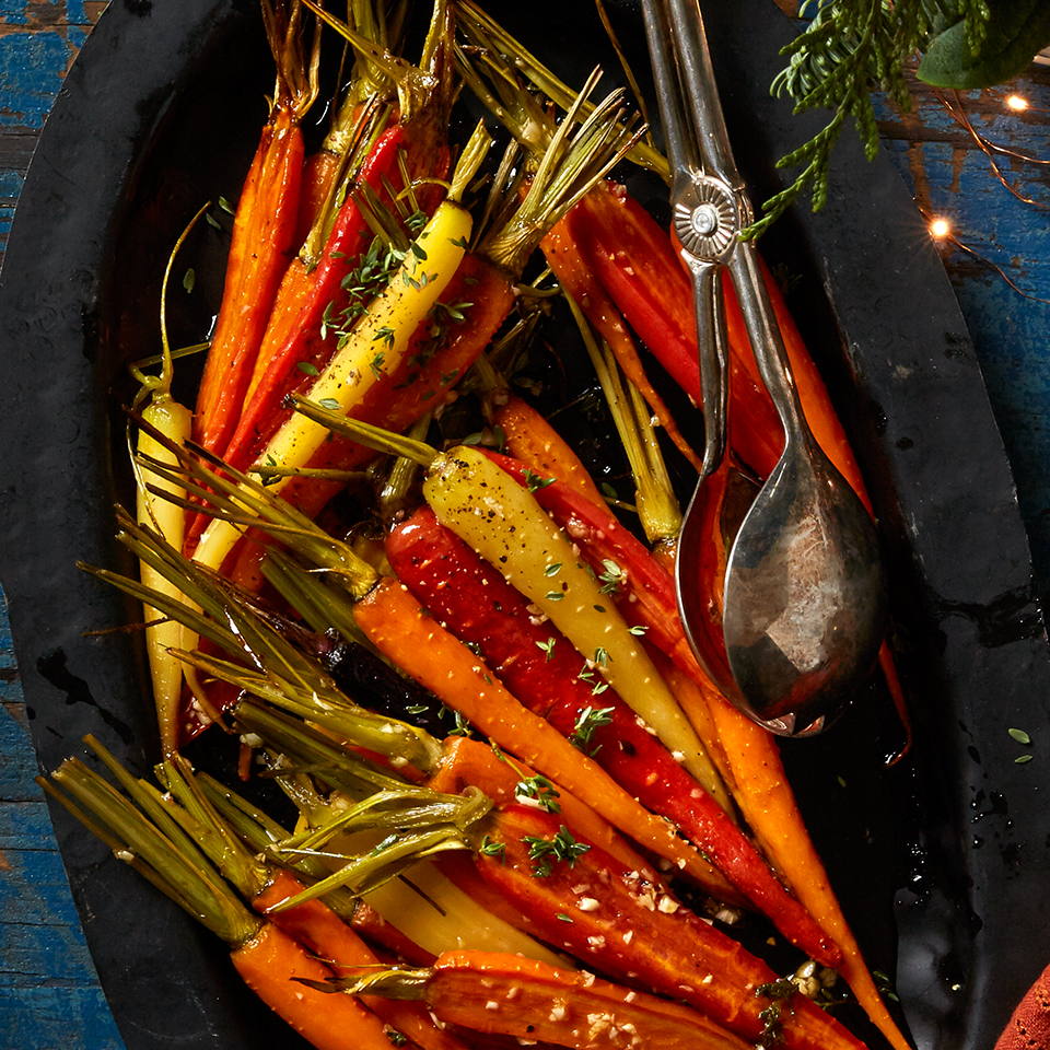 Maple-Thyme Roasted Baby Carrots Diabetic Living Magazine