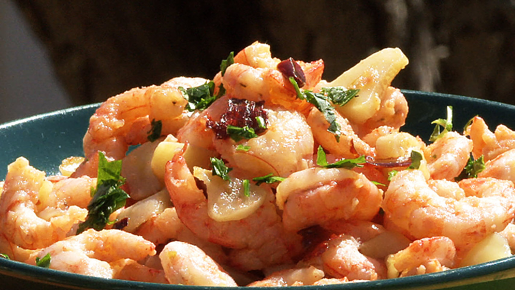 Spanish Pan-Fried Shrimp with Garlic