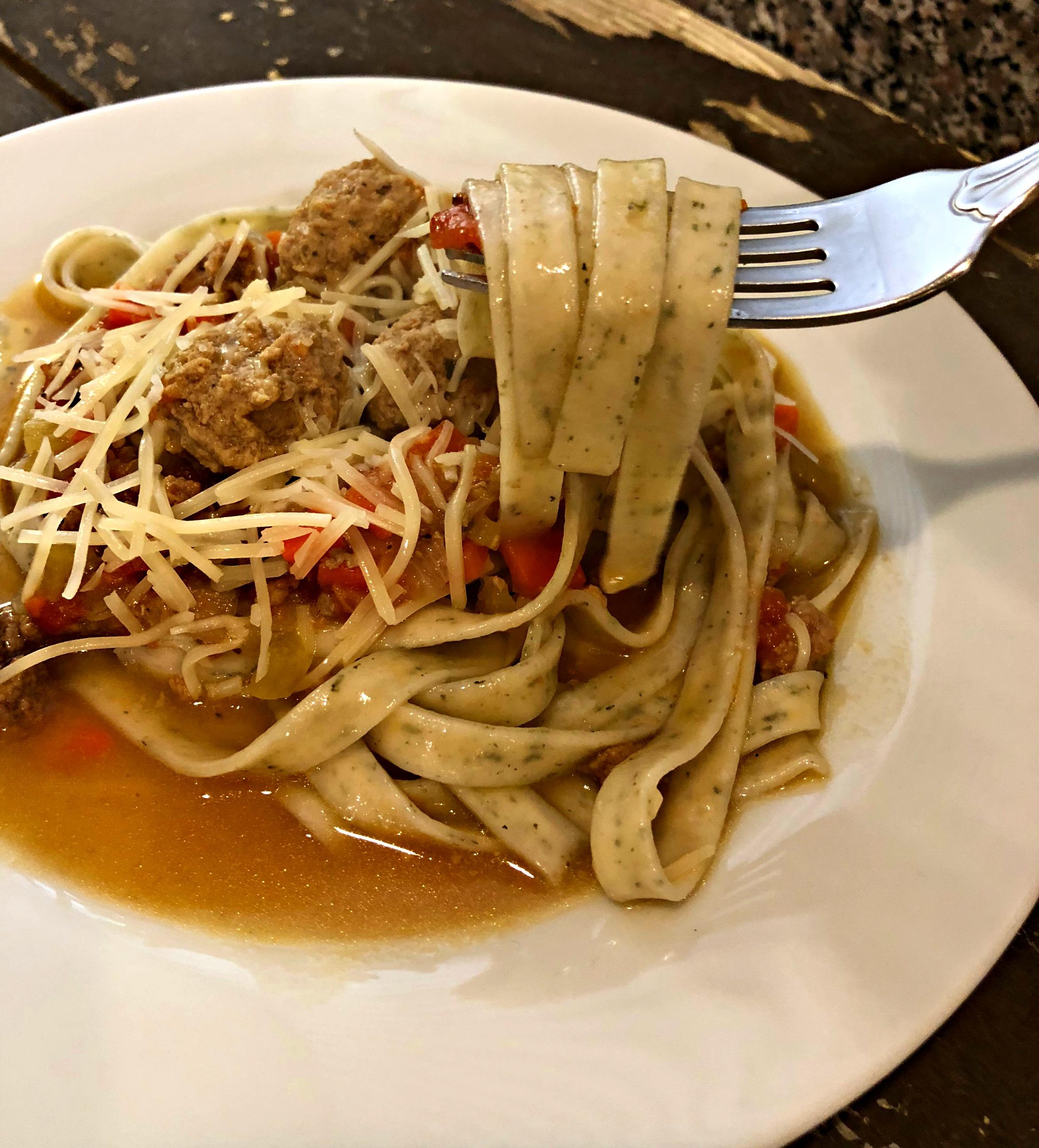 Hearty Fettuccini Bolognese Sauce