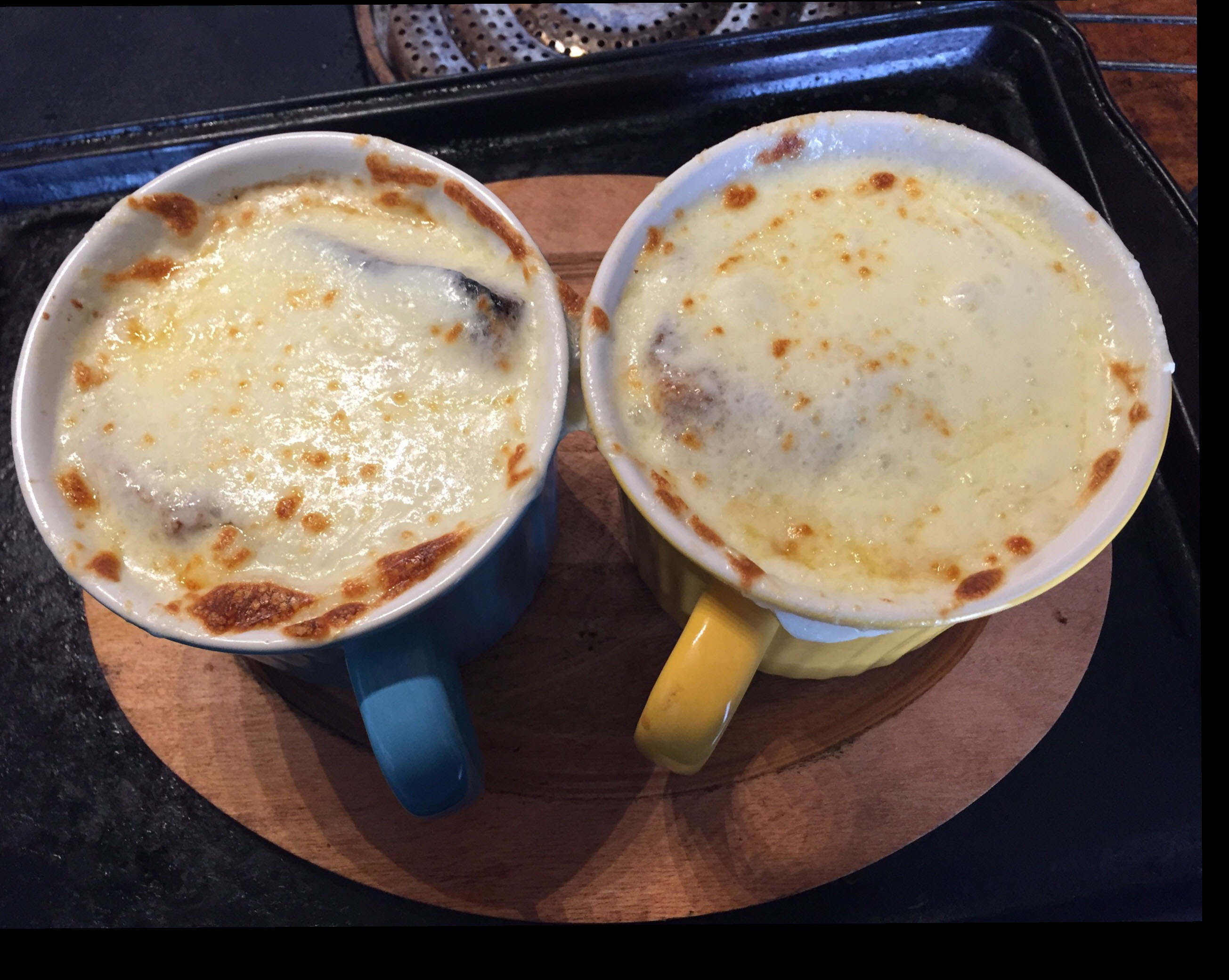 French Onion Soup With Browned Garlic