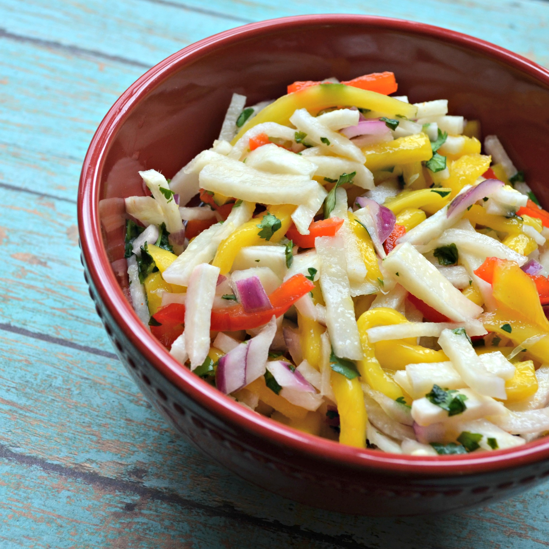 Jicama Mango Salad with Cilantro and Lime