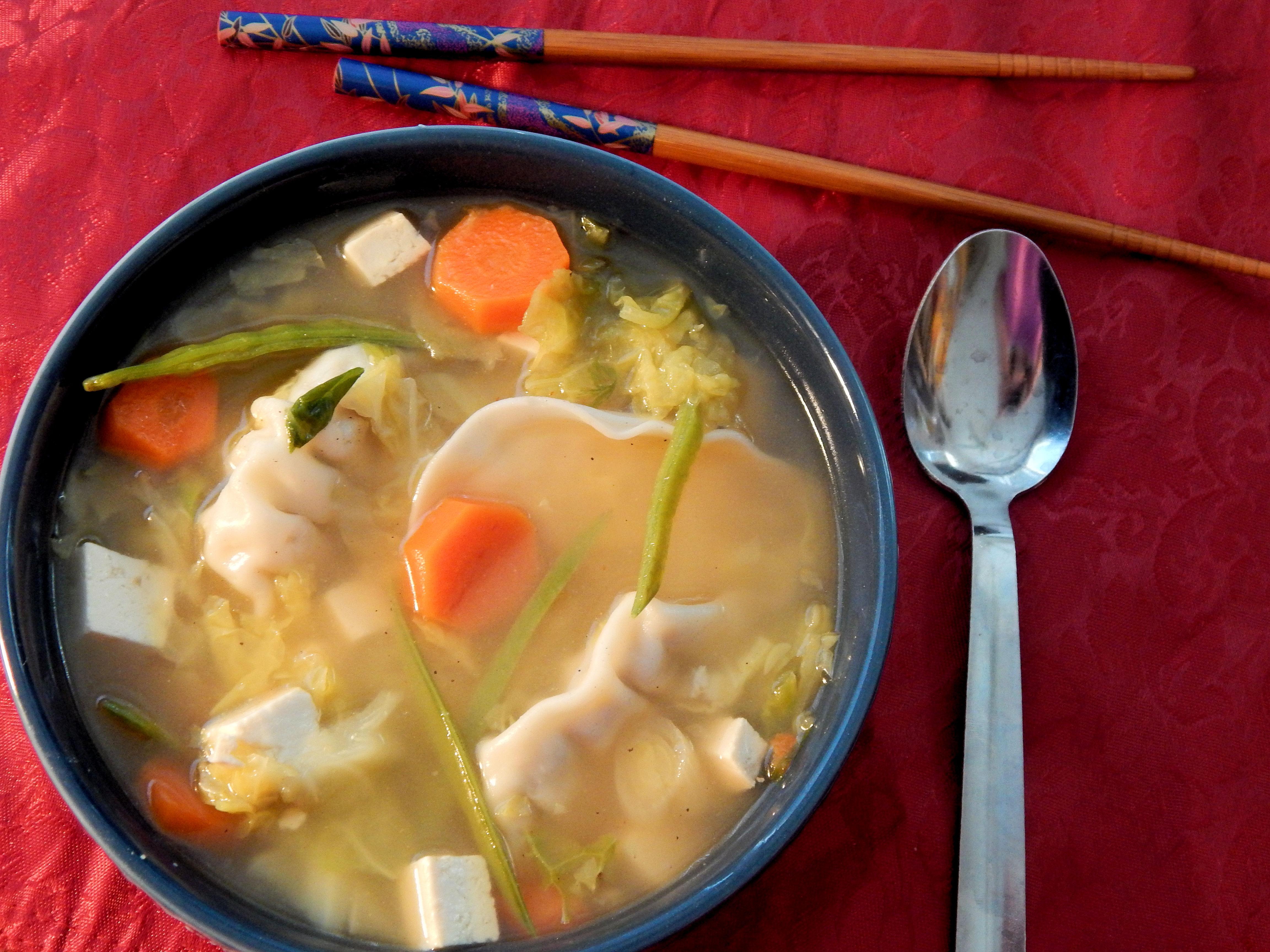 Veggie and Wonton Soup