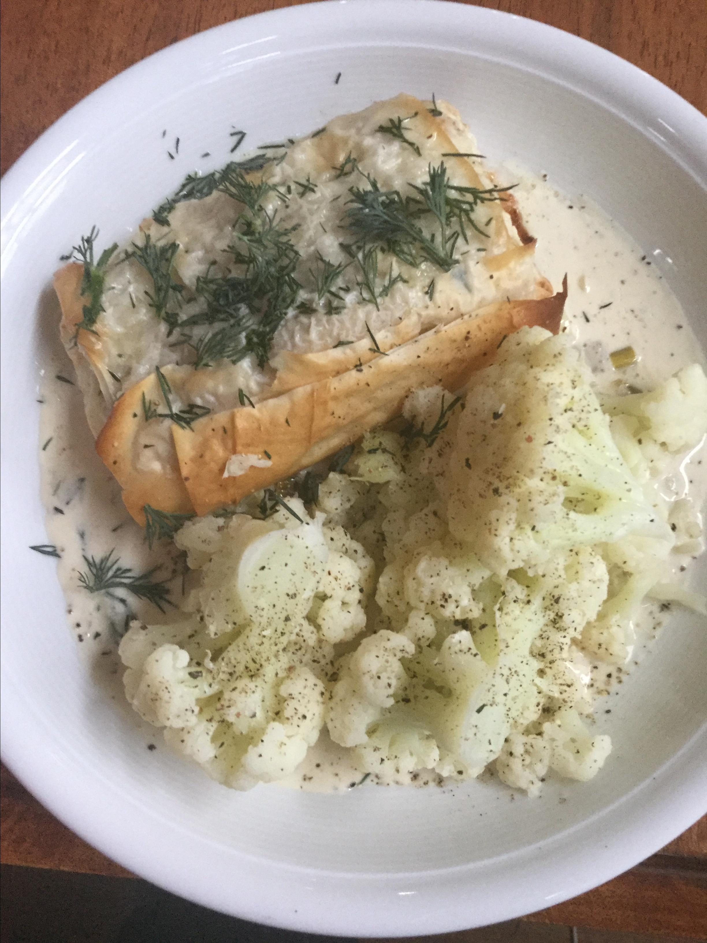 Phyllo-Wrapped Halibut Fillets with Lemon Scallion Sauce Tipster