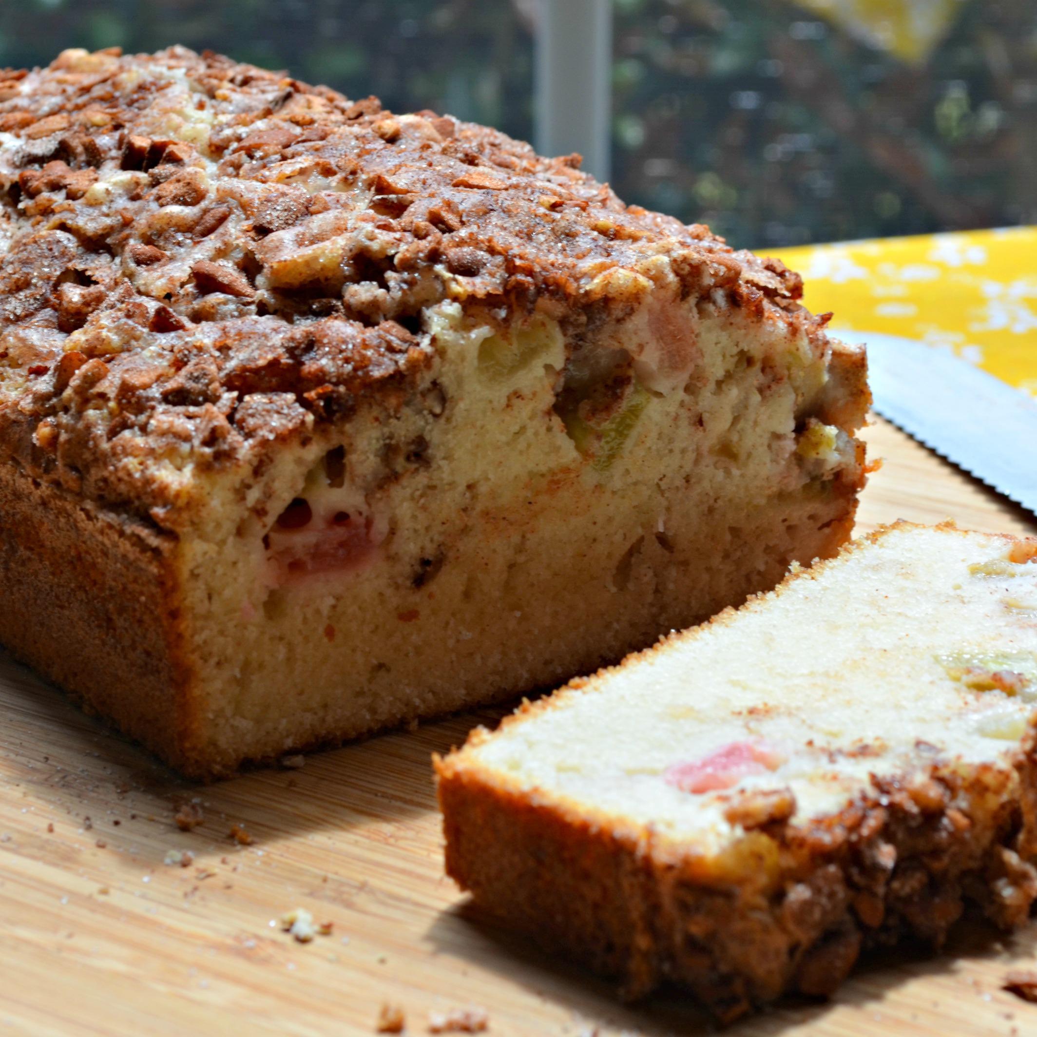 Rhubarb Cinnamon-Nut Bread