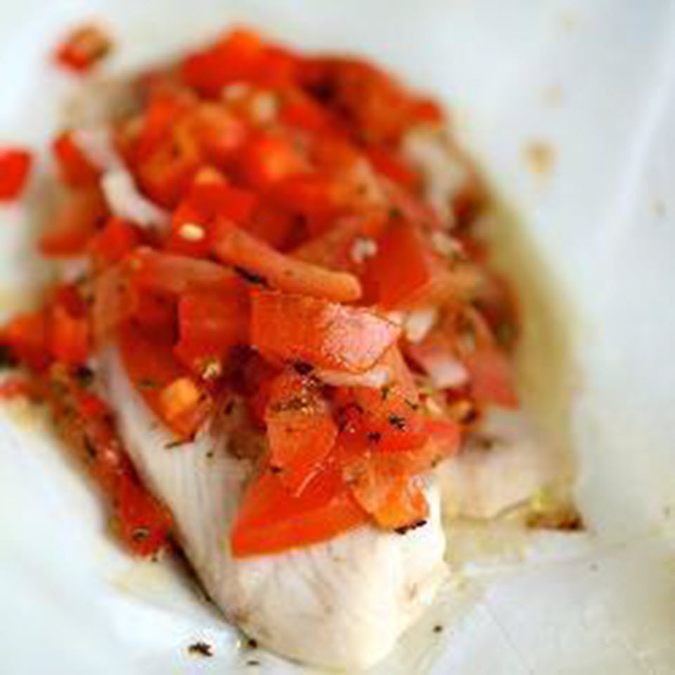 Baked Cod in Foil
