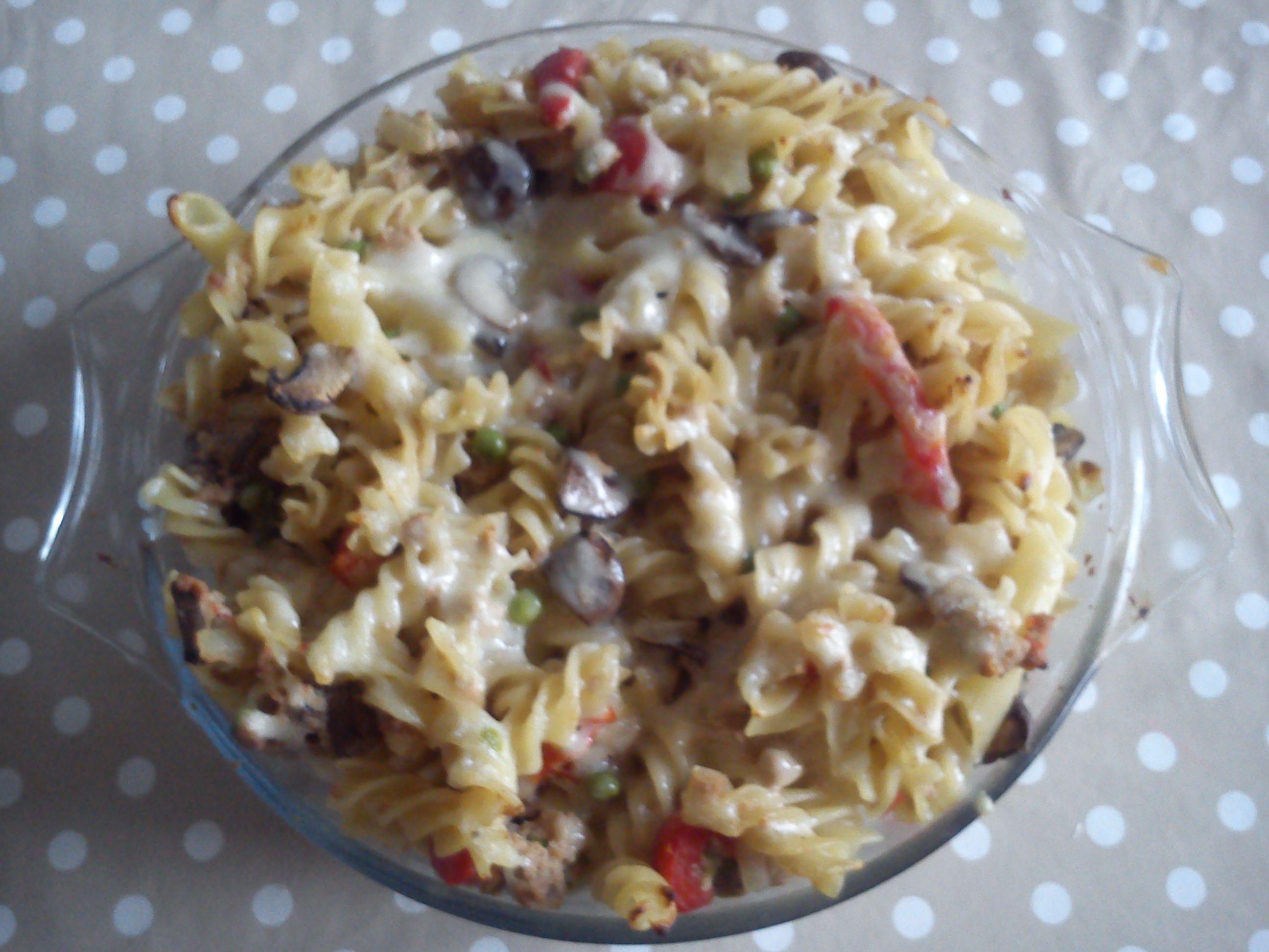 Tuna Noodle Casserole with Mushrooms