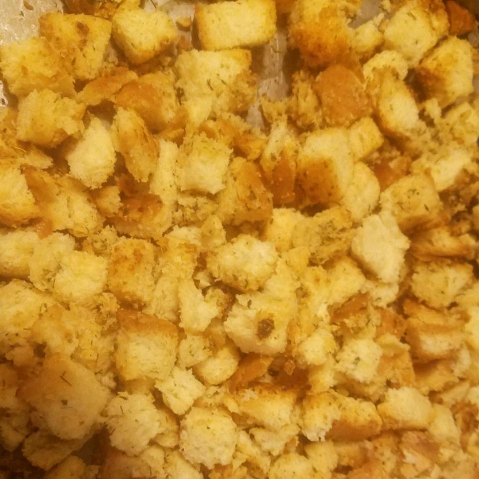 Garlic-Parmesan Croutons Norma Alicia Avila