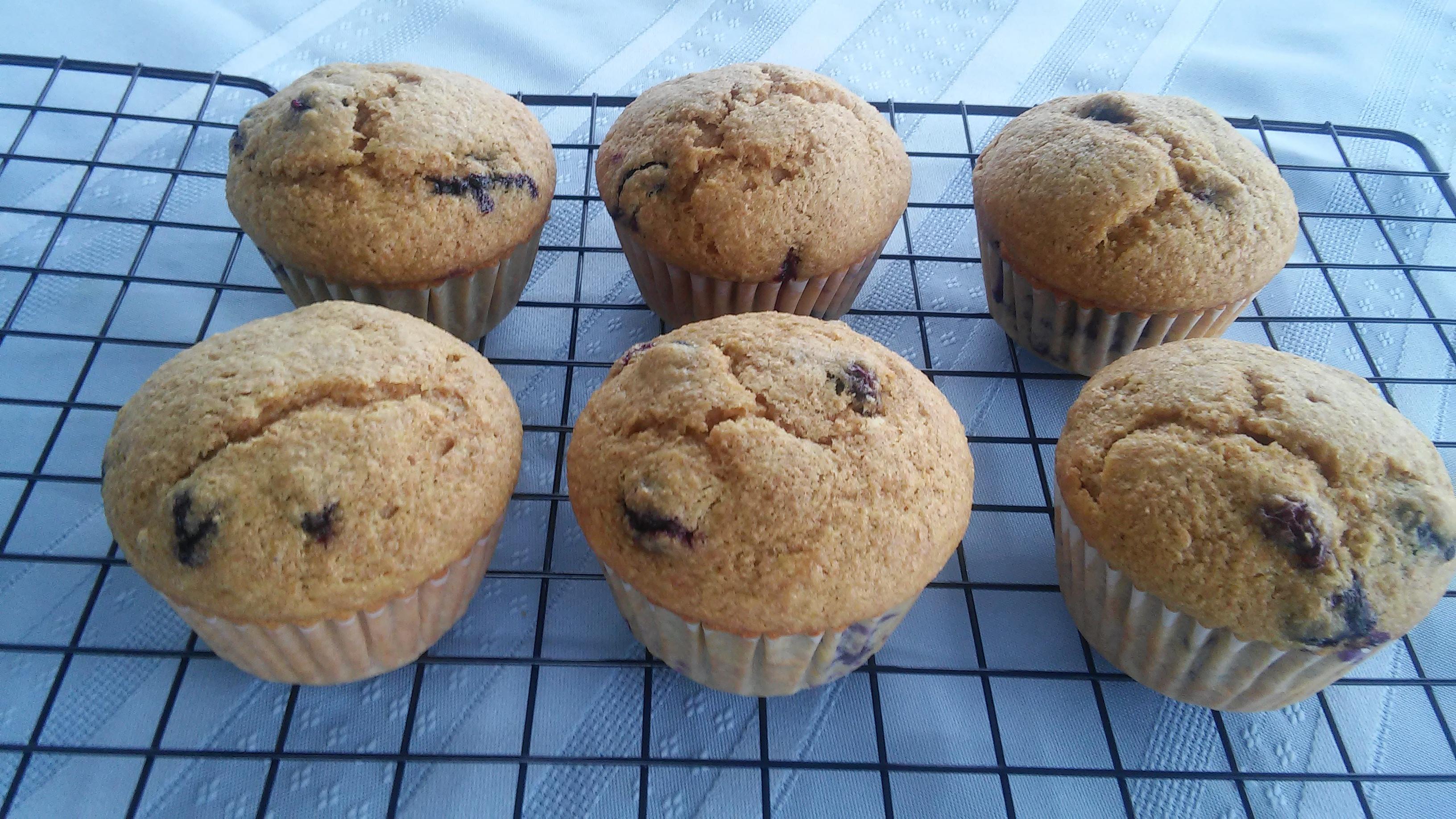 Quick Vegan Blueberry Muffins