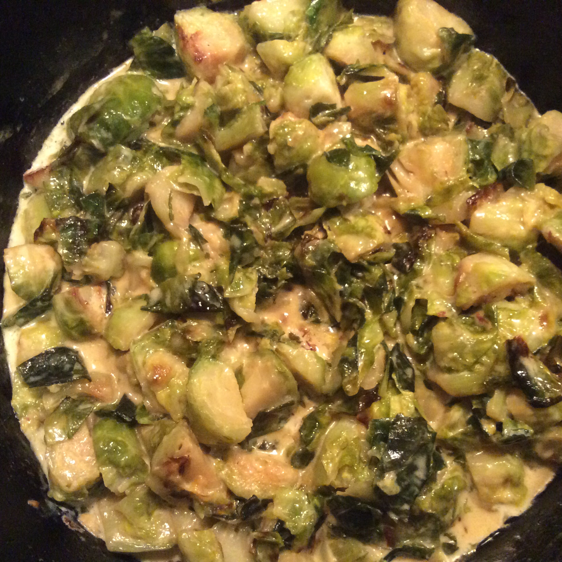 Cream-Braised Brussels Sprouts Fun In The Kitchen