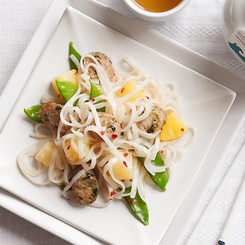 Quick Asian Noodles with Chicken Sausage Diabetic Living Magazine