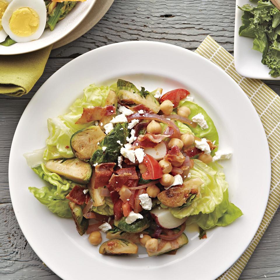 Potato and Brussels Sprouts Salad with Lemon-Honey Vinaigrette Diabetic Living Magazine