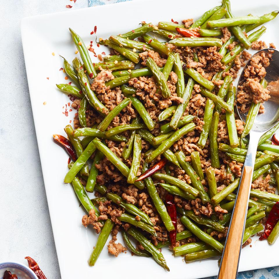 Spicy Pork & Green Bean Stir-Fry Carolyn Malcoun