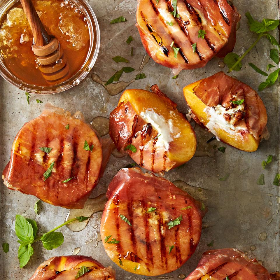 Grilled Prosciutto Peaches Diabetic Living Magazine