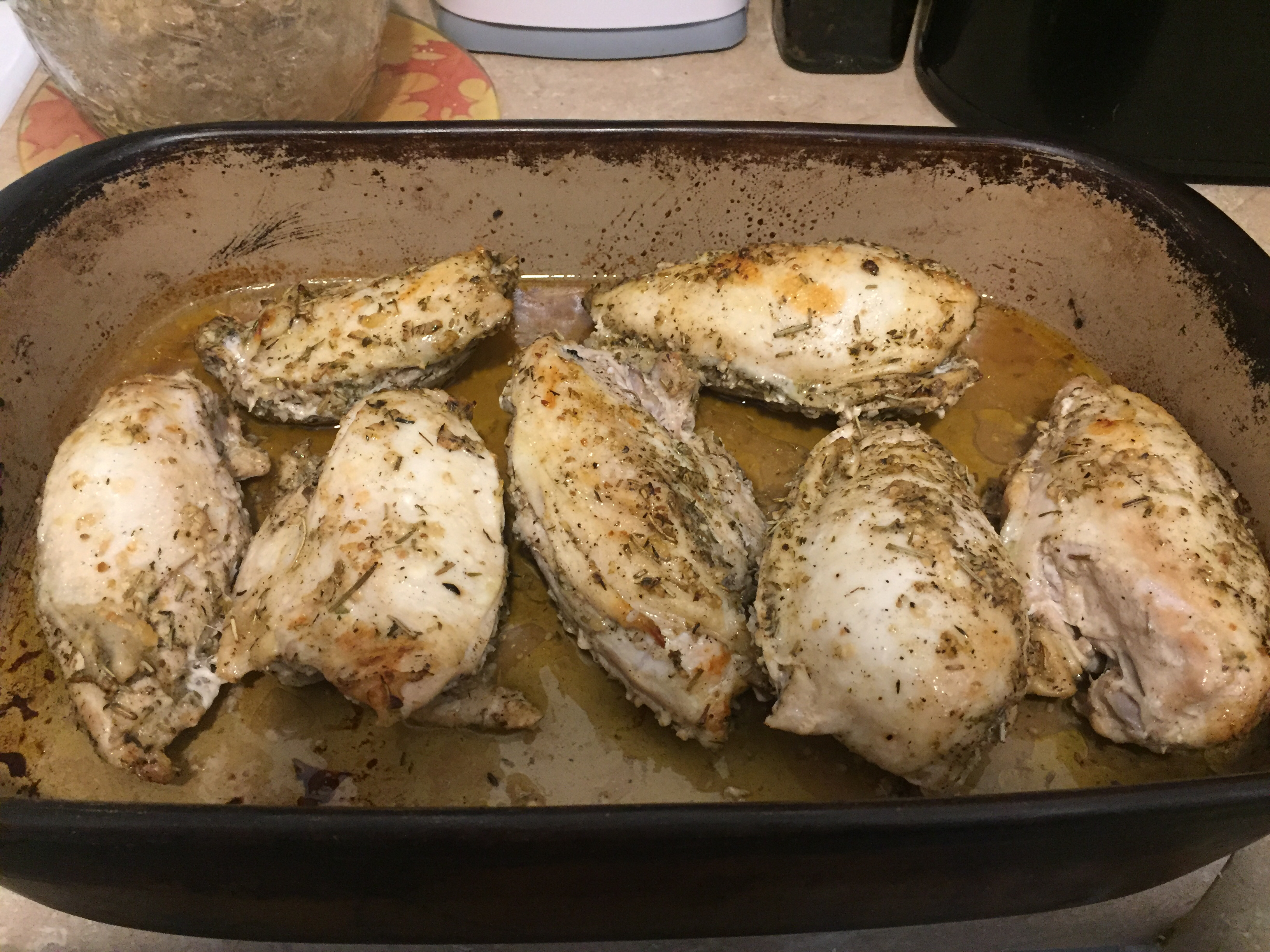 Chicken Breasts with Herb Basting Sauce LinClarke