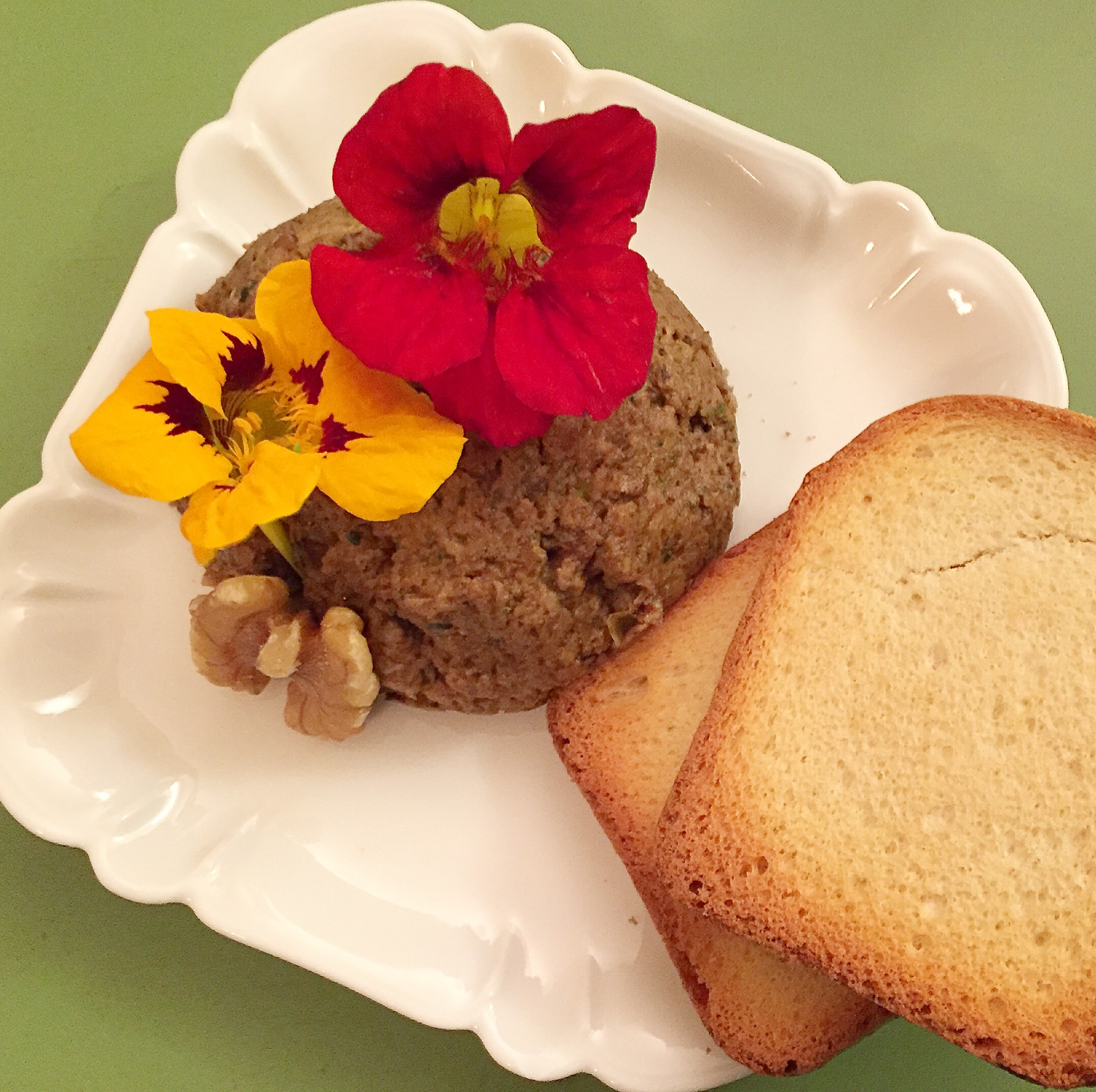 Exotic Mushroom and Walnut Pate Darla