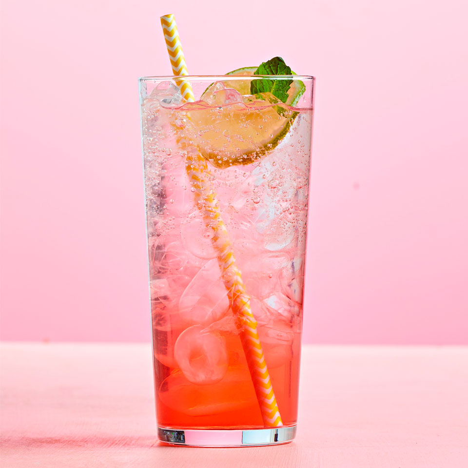 Raspberry Ginger Lime Seltzer