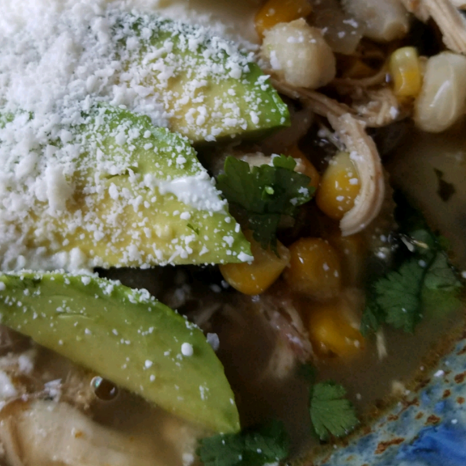Rotisserie Chicken Chili With Hominy and Chiles Joyce