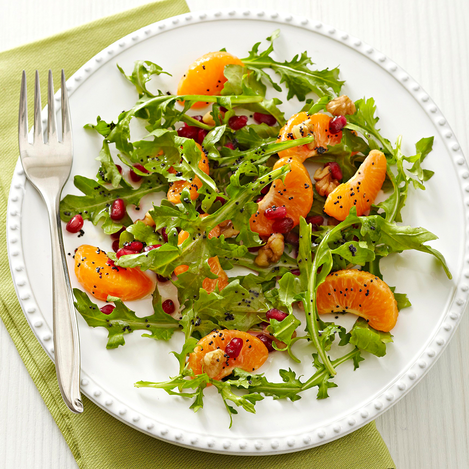 Clementine-Arugula Salad with Lime-Poppy Seed Dressing Diabetic Living Magazine