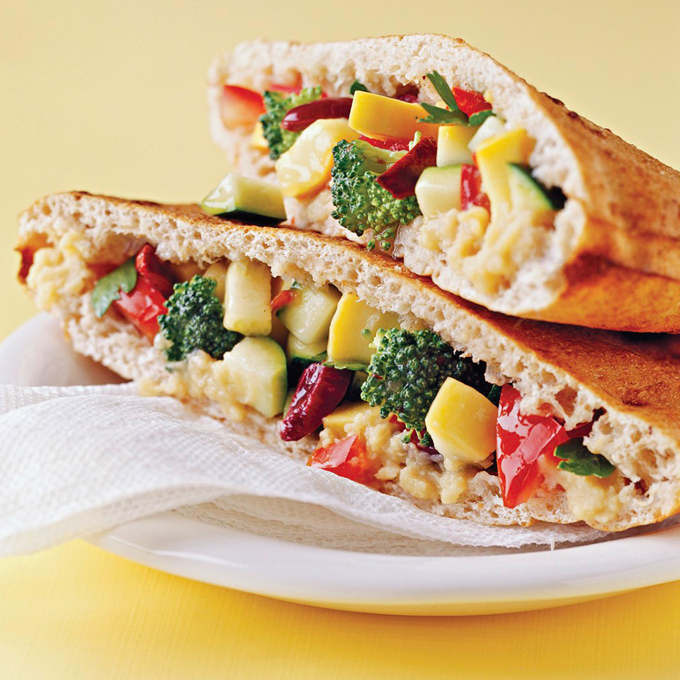 Chopped Salad in a Pocket Diabetic Living Magazine