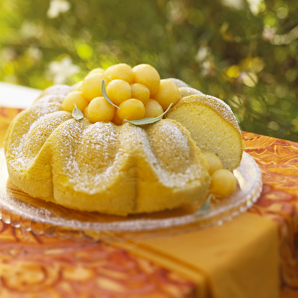 Melon Chiffon Cake with Sparkling Fruit Diabetic Living Magazine